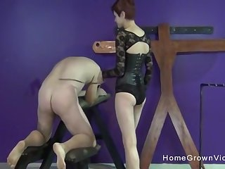 This older guy is quite experienced when it comes to pegging but this is his crafty time on camera!