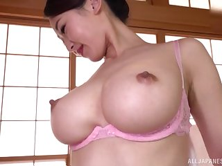 Japanese with big tits, insolent moments for home porn