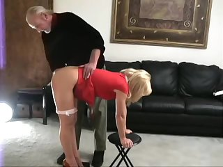 Katie spanked bare station
