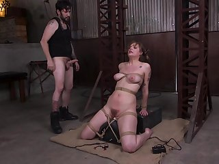 Rotug ass fucking for tied up model Sailor Luna who loves it