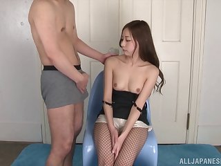 Sexy Japanese Yuria Mano loves sucking a large dick of their way lover