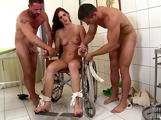 Immoral fucking on the hospital abut on about tied up slut Mira Sunset