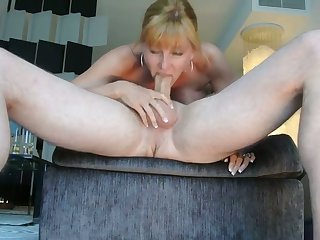 Astounding heavy breasted MILFie wifey is so happy upon suck delicious cock 69