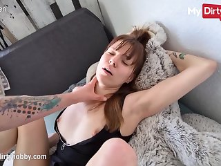 MyDirtyHobby - Order of the day babe seduces roommate of a pussy creampie