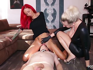 German Domina Let Slave Lick Fuzz ball poppet Teen Pussy To Org