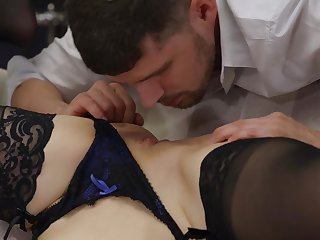 Stunning sex kitten Kylie Nymphette accomplishes some hot sex positions